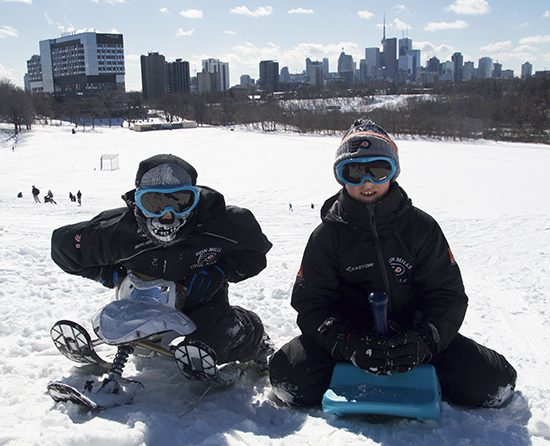 Luka and Michael Marrelli spent their school snow day on Riverdale Hill.