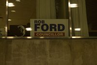 Rob Ford sign in previous office.