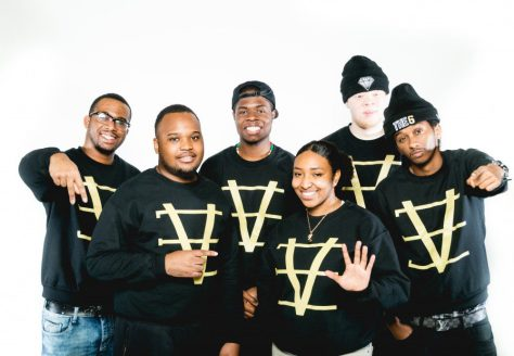 Members of 16 Bars, a youth oriented hip-hop workshop. From left: Ras Kofi (Dion Arthur Stanley Daly), Supreme Ace (Omar Tapambwa), Jae Lejit (Junior Lavagesse), Meika Holiday (Jahmeika Reid), Stretch Turner (Isaac Mbikay), A.B Rava (Ahmed Barud)