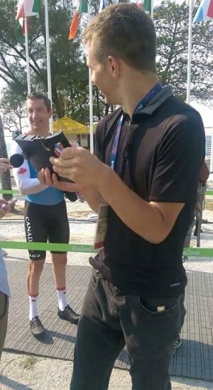 Quinton Amundson interviews cyclist Tristen Chernove in Rio