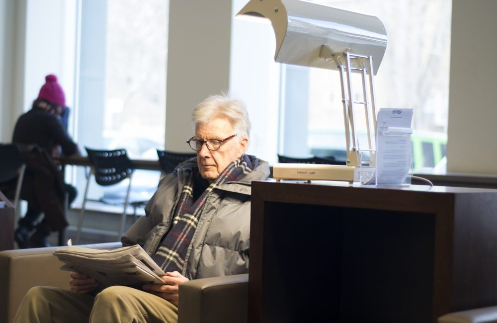 Library lamps are a part of pilot program designed to provide people afflicted with seasonal affective disorder free access to treatment.