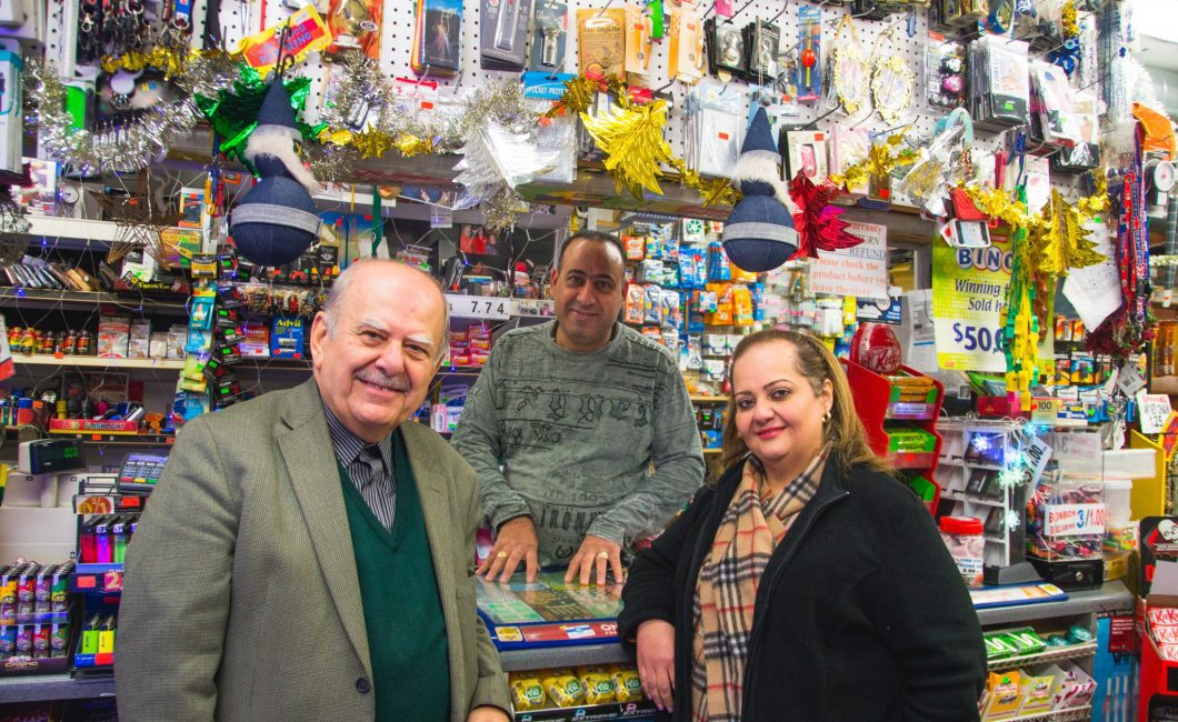 Three owners of a convenience store