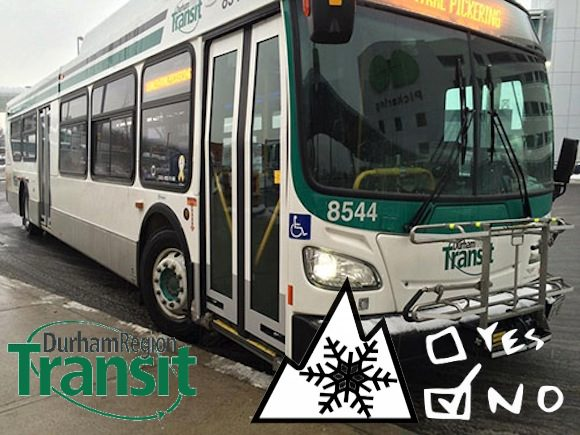 Durham Region Transit bus - no snow tires