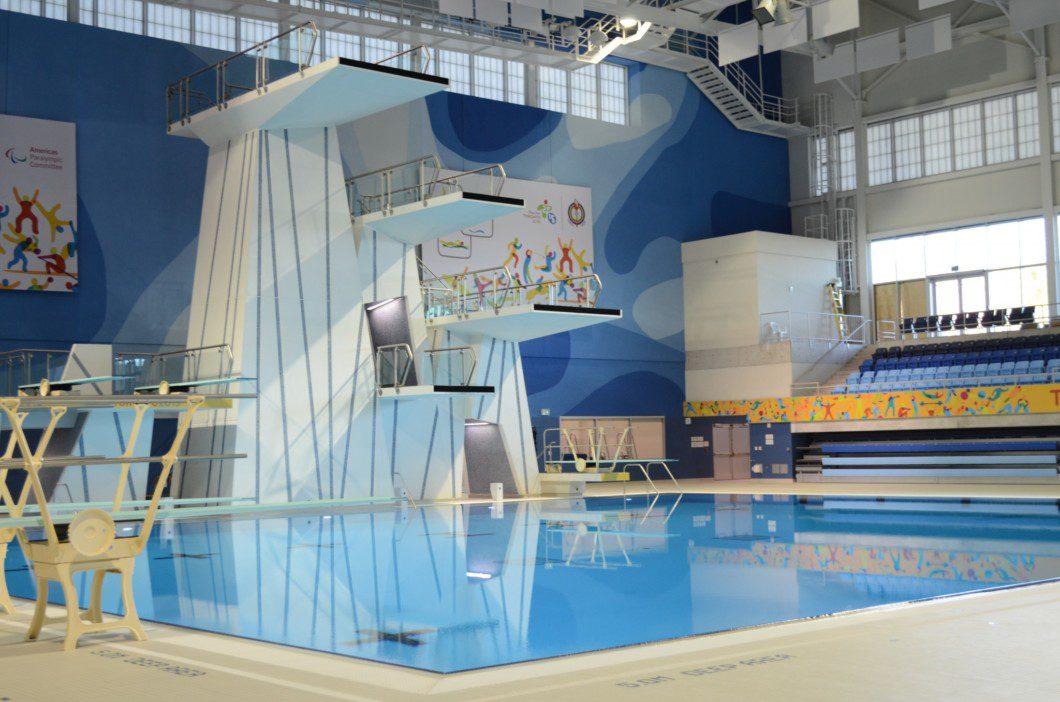 diving pool inside Pan Am pool building