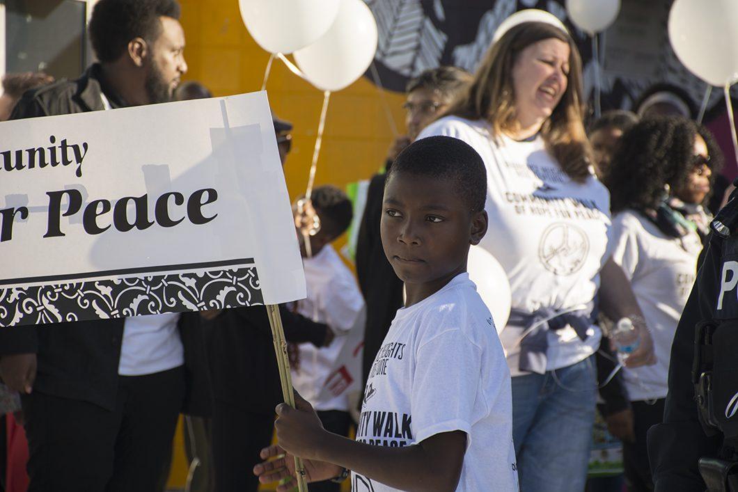 boy at Peace Walk