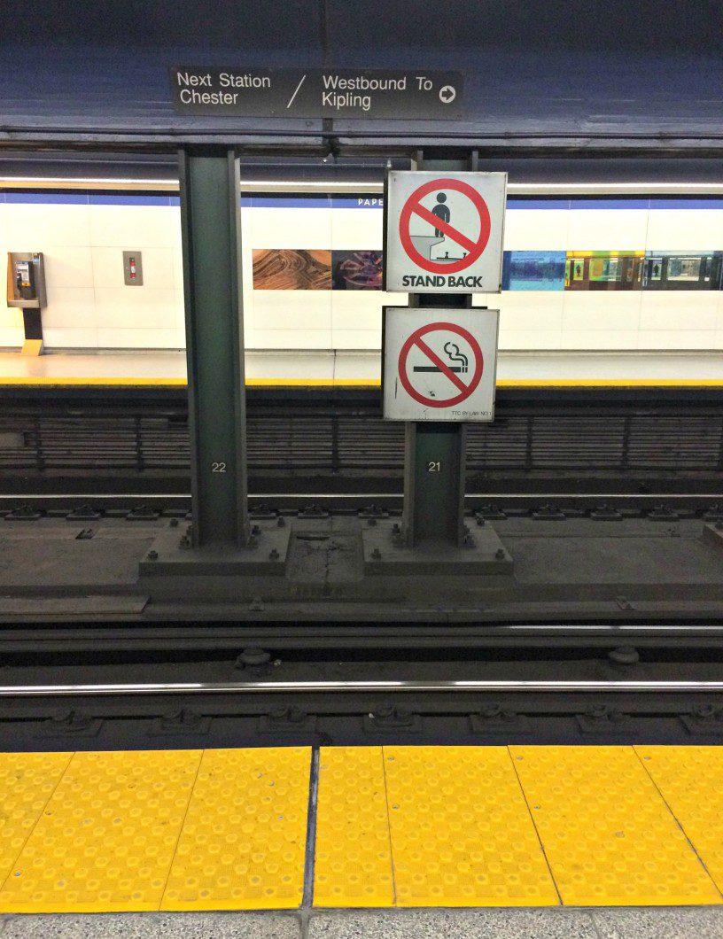 TTC warning sign