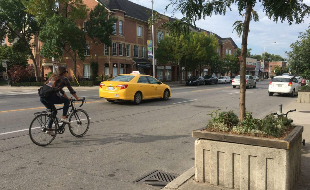 Danforth bike lanes