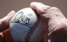 Ramon Santiago's autograph on a ball
