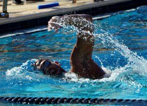 Swimmer Marc Olivier Caron swimming.