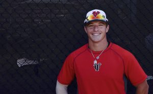 Head shot of University of Tampa catcher Chris Gaffney.