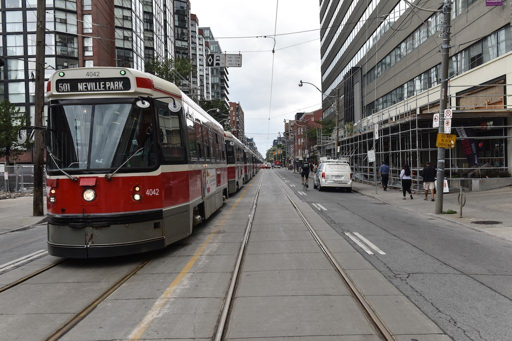 TTC Streetcars Backed Up