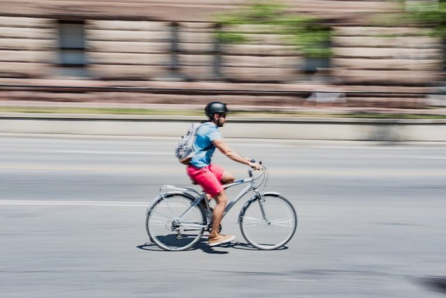Panning Shot of Cyclist