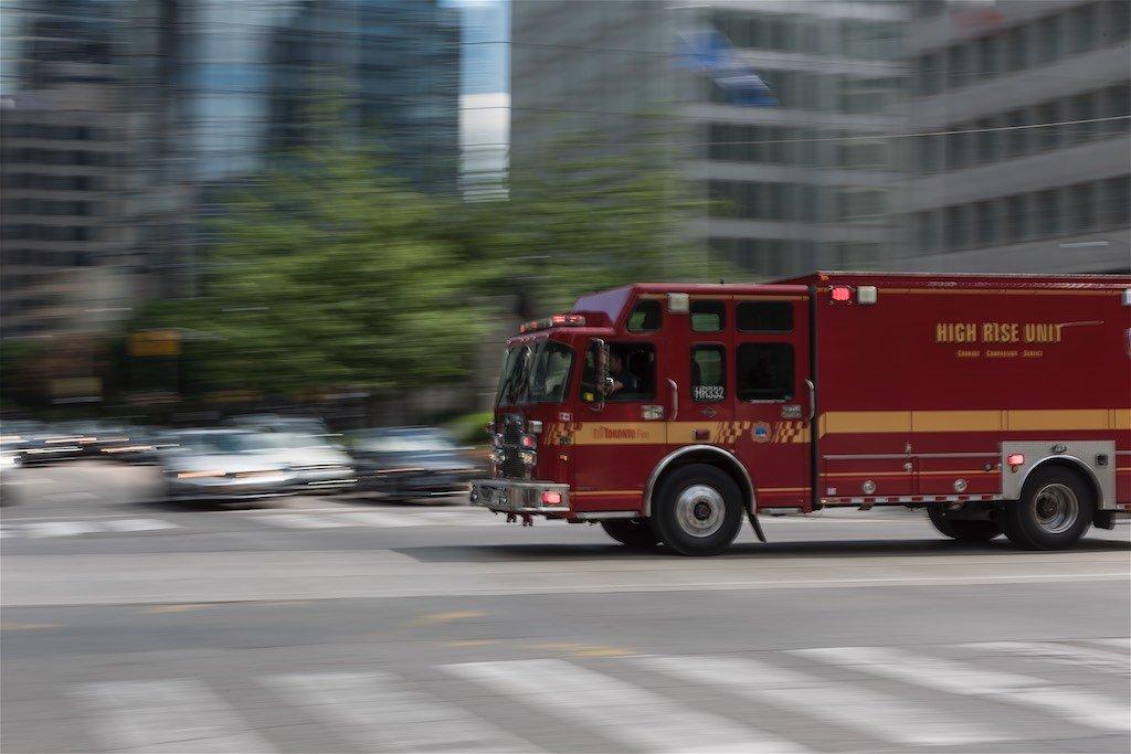 Panning Fire Truck