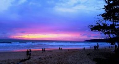 Incredible Sunset in Phuket Thailand Karon Beach