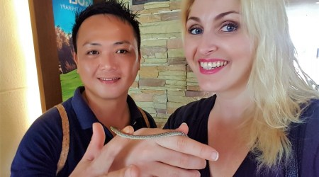 Snake Shangri-La Rasa Ria Resort Kota Kinabalu Malaysia Jungle Trekking Nature Reserve