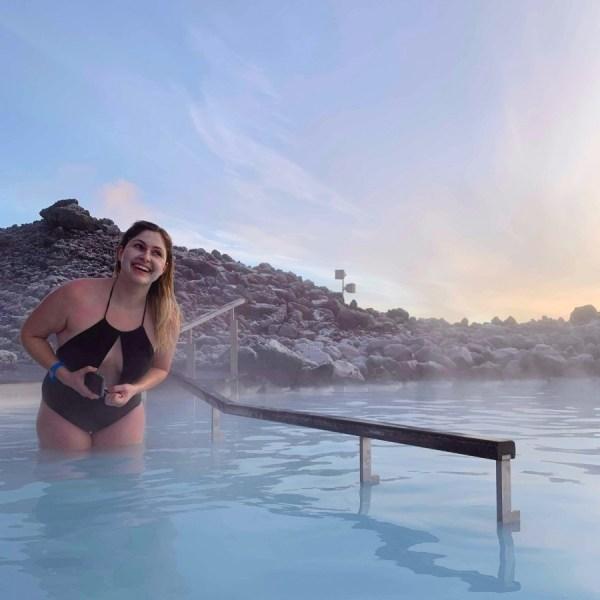 Iceland, Reykjavik, Blue Lagoon, Silica, Resort, Woman, Bathing, Laughing, Volcano, Volcanic Rock