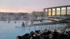 Iceland, Reykjavik, Blue Lagoon, Silica, Resort, Woman, Bathing, Laughing, Volcano, Volcanic Rock