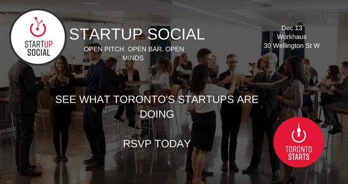 STARTUP SOCIAL (formerly Startup Drinks) w TorontoStarts