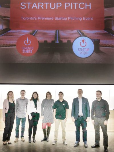 TorontoStarts startup pitch winner and pitch judges