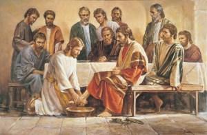 Jesus Washing the Man's Feet