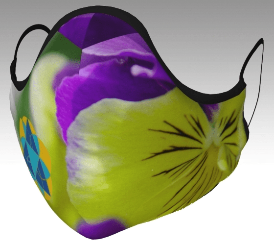 Tri Delta Pansy Mask front view