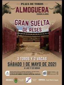 Toros mayo 2021 Almoguera, Guadalajara