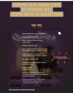 TOROS QUATRETONDA 1 AL 3 OCTUBRE 2021