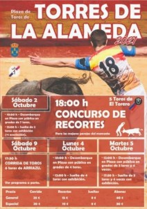 TOROS TORRES DE LA ALAMEDA 2, 4 Y 5 DE OCTUBRE 2021
