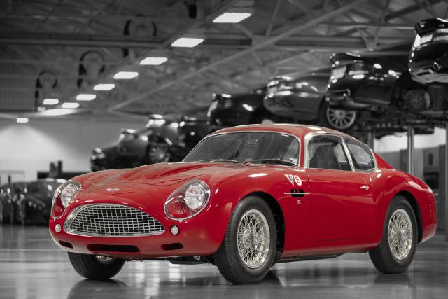 A photo of a red Aston Martin DB4 GT Zagato