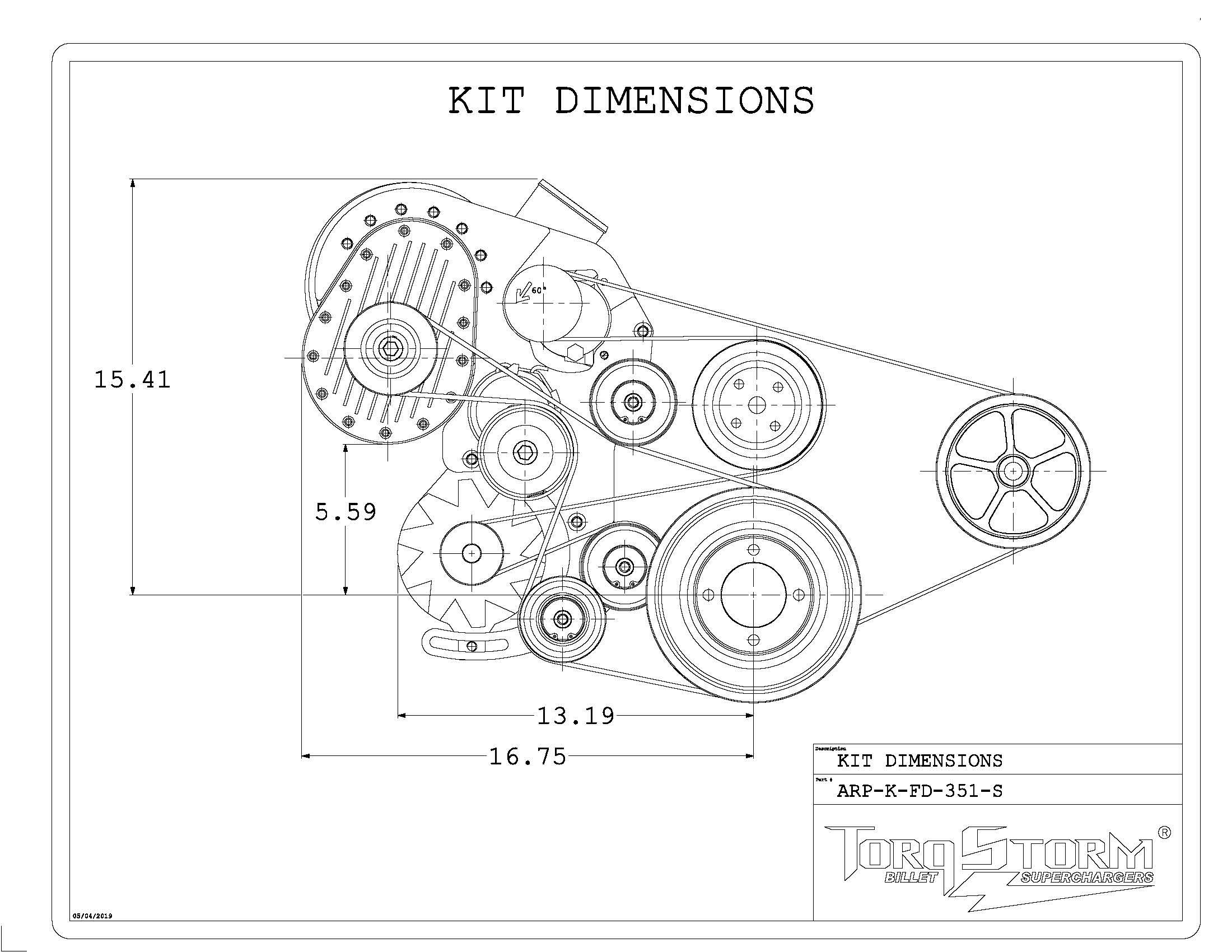 Ford 351 Windsor Single Supercharger Kit
