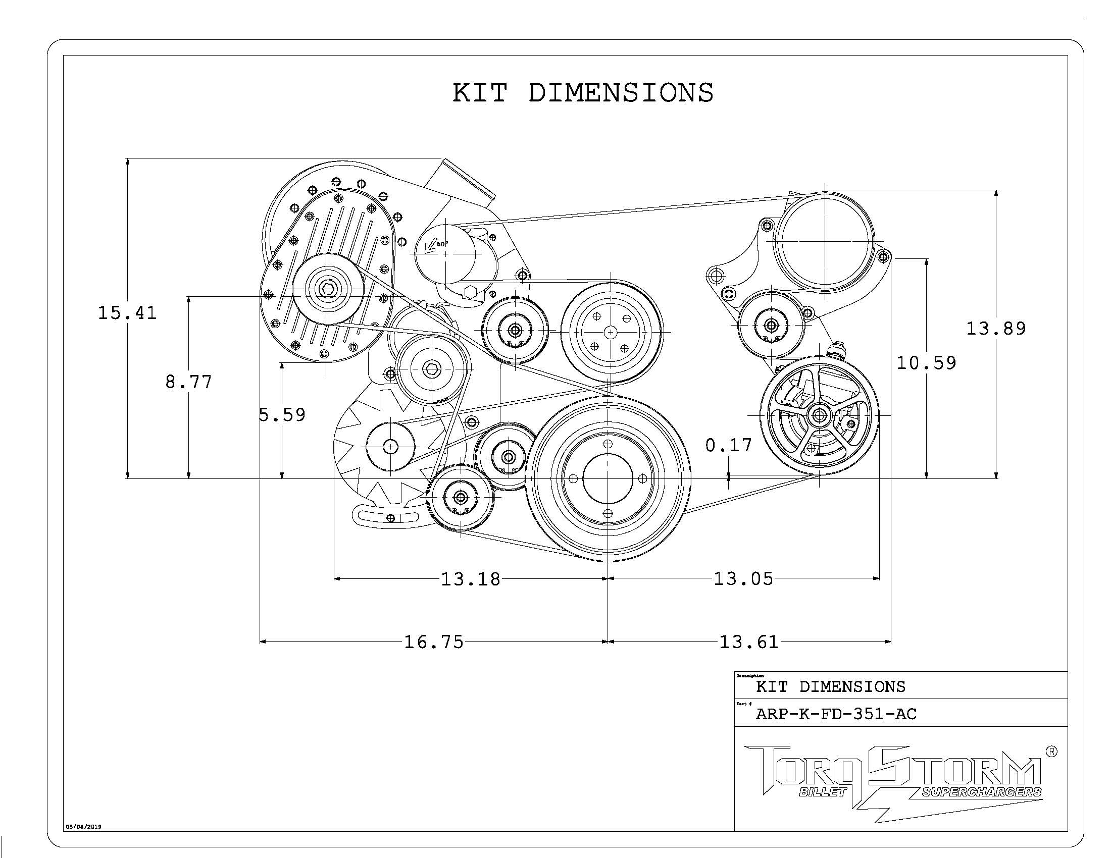 Ford 351 Windsor Single Charger Plus Kit