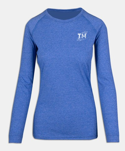 Long Sleeve - W - Royal Heather - Front