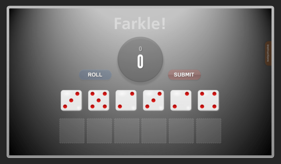 Farkle game screenshot