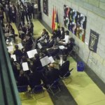 La banda, ubicada en el vestíbulo de la Casa de la Cultura