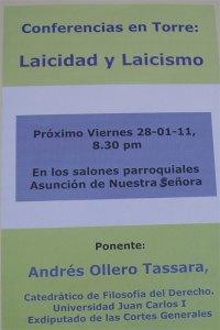 Conferencia Laicidad y Laicismo, en Torrelodones