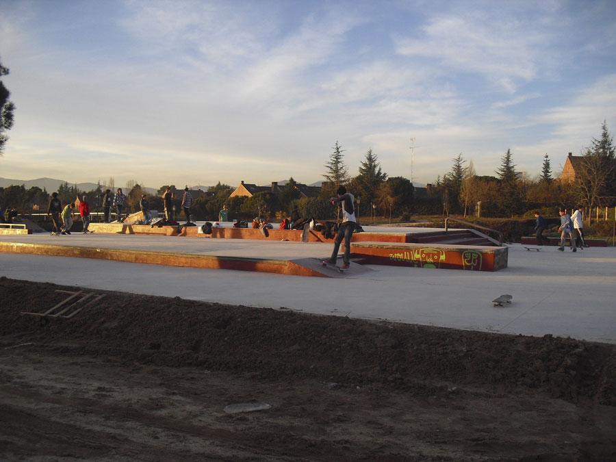 Pistas de Skate de Pradogrande, antes de acabar las obras.