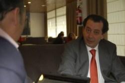 Javier Laorden Ferrero, durante una entrevista de Torrelodones.info
