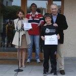 Javier Bueno, uno de los alumnos del San Ignacio, ganadores del Encuentro Literario Escolar