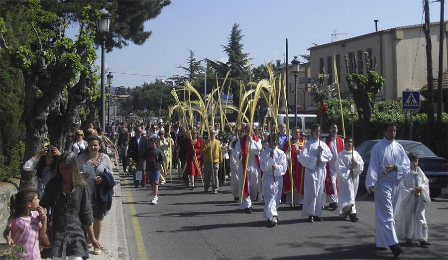 Procesión del Domingo de Ramos en la Colonia de Torrelodones