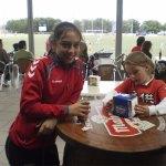 Selección Madrileña!. A su lado, Bea, la guapa hermana de uno de los jugadores.