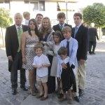 Hermanos y sobrinos de la novia