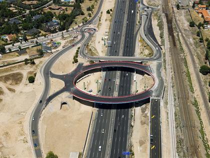Nuevo Puente sobre la N-VI en el Km 24, Las Matas, Las Rozas, Madrid