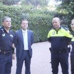 Concejal de Seguridad de Galapagar y miembros de la Policía Local