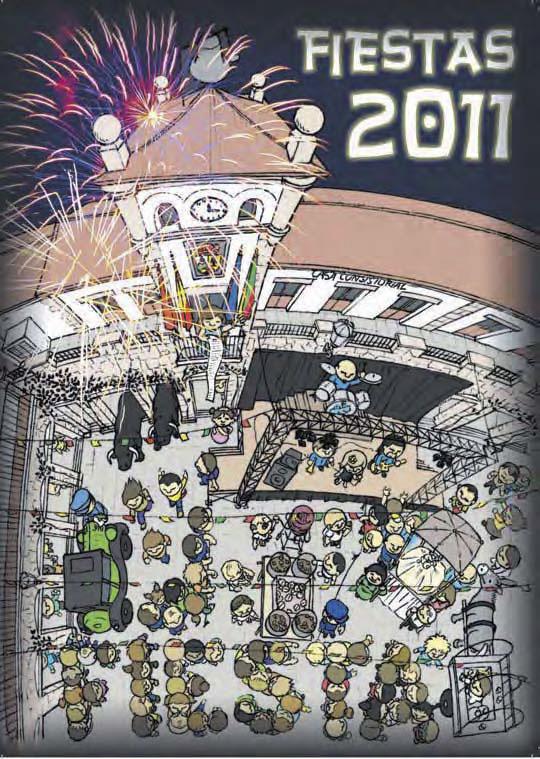 Cartel Fiestas de Hoyo de Manzanares 2011 (de José Manuel Orejas Cámara)),