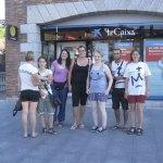 Peregrinos de Eslovenia en Torrelodones