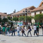 Protesta de los profesores del IES Diego Velázquez de Torrelodones