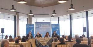 De izq. a derecha: Miguel Ángel Galán, Miguel Arias Cañete, Gádor Ongil y Percival Manglano.