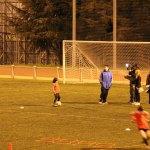 Javier Villalba es grabado junto a su entrenador, Juanjo.