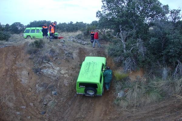 Protección Civil de Torrelodones tomó un curso de conducción de vehículos 4x4