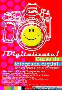 ¡Digitalízate! (cartel realizado por el ilusrador Gustavo Otero)